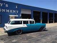 1956 Chevrolet 210 Wagon with 18'' front and 20'' rear Boss wheels